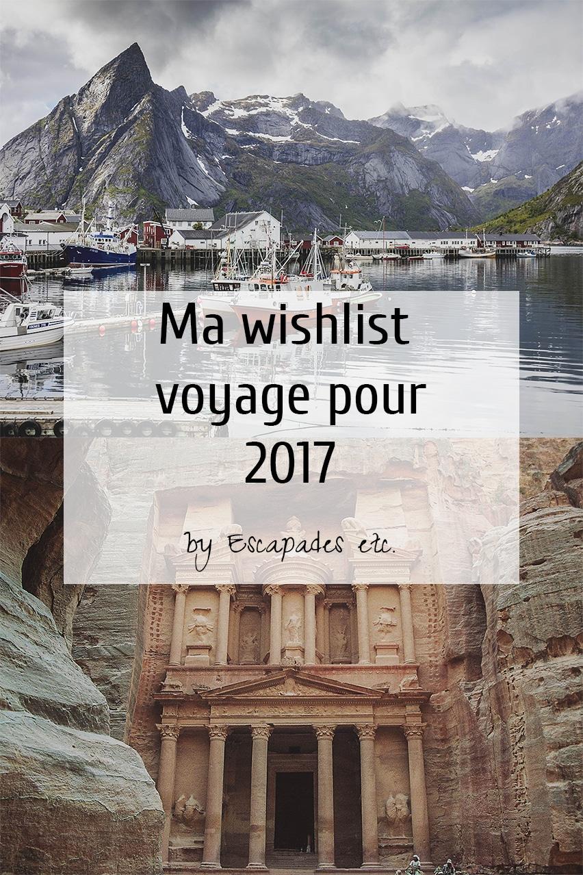 wishlist voyages 2017