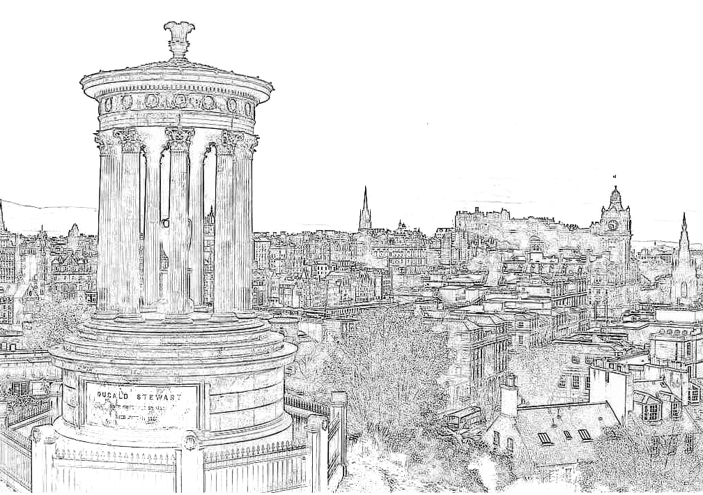 illustration Edimbourg