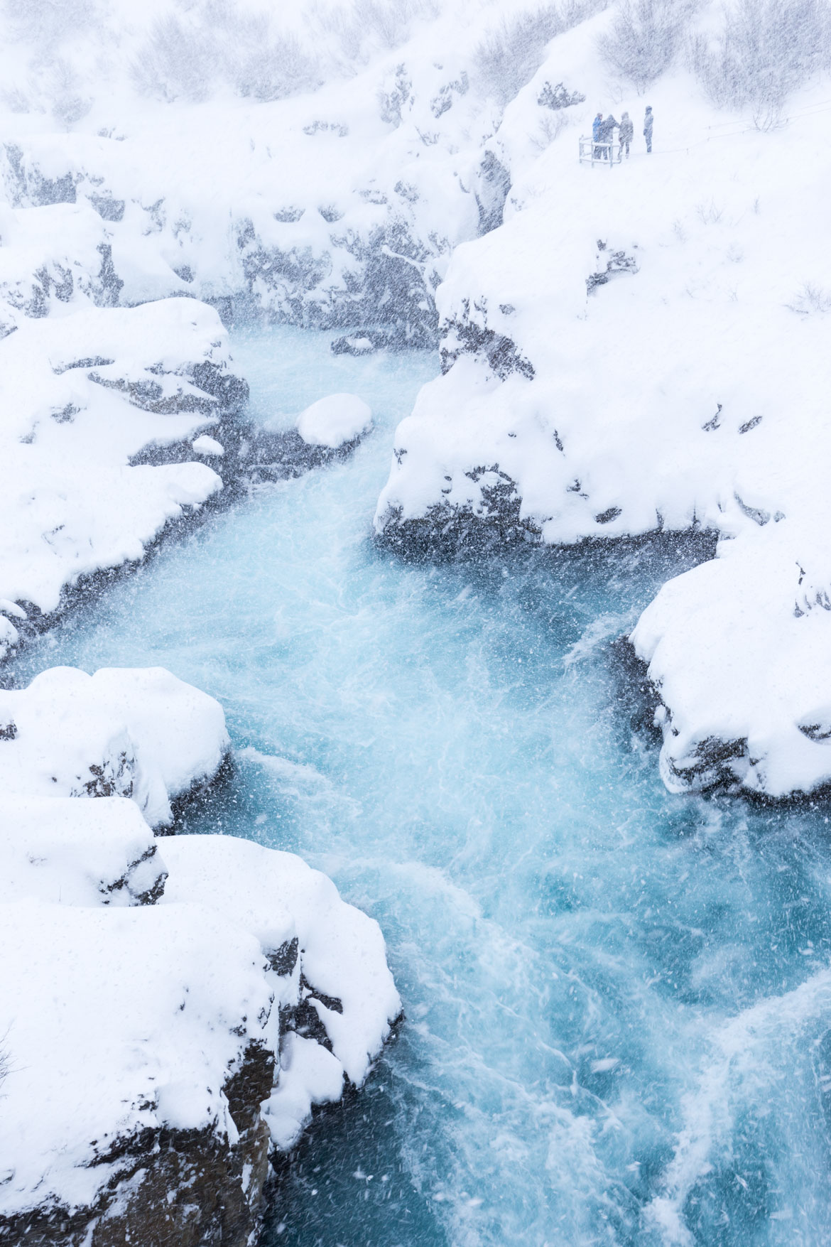 road trip hivernal en islande barnafoss