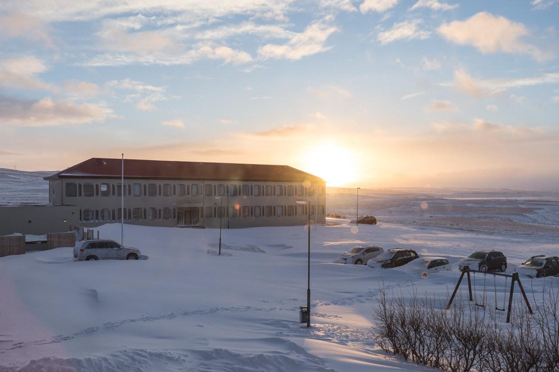 road trip hivernal en islande hotel laugarbakki