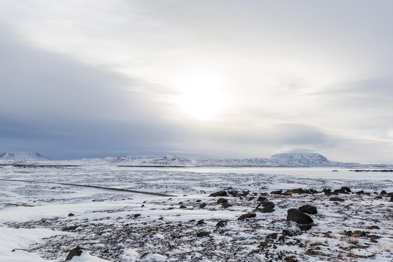 islande roadtrip hivernal lac myvatn Hverfjall