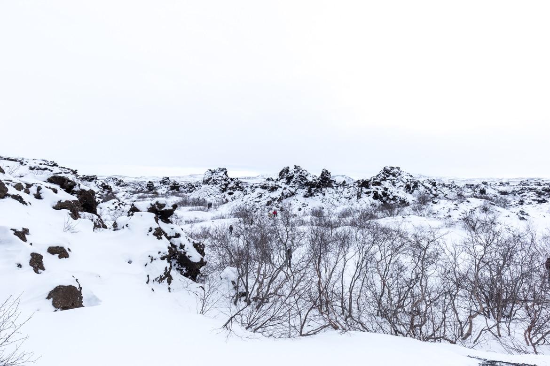 islande roadtrip hivernal lac myvatn Dimmuborgir