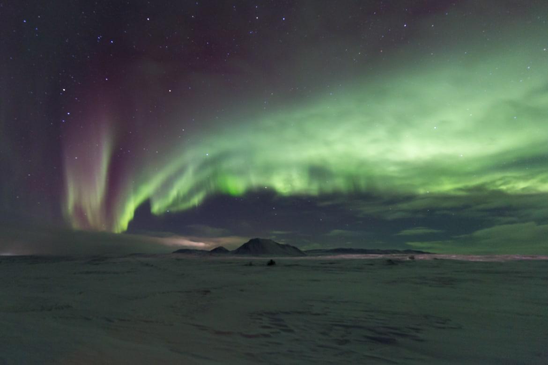 islande roadtrip hivernal lac myvatn aurore boreale