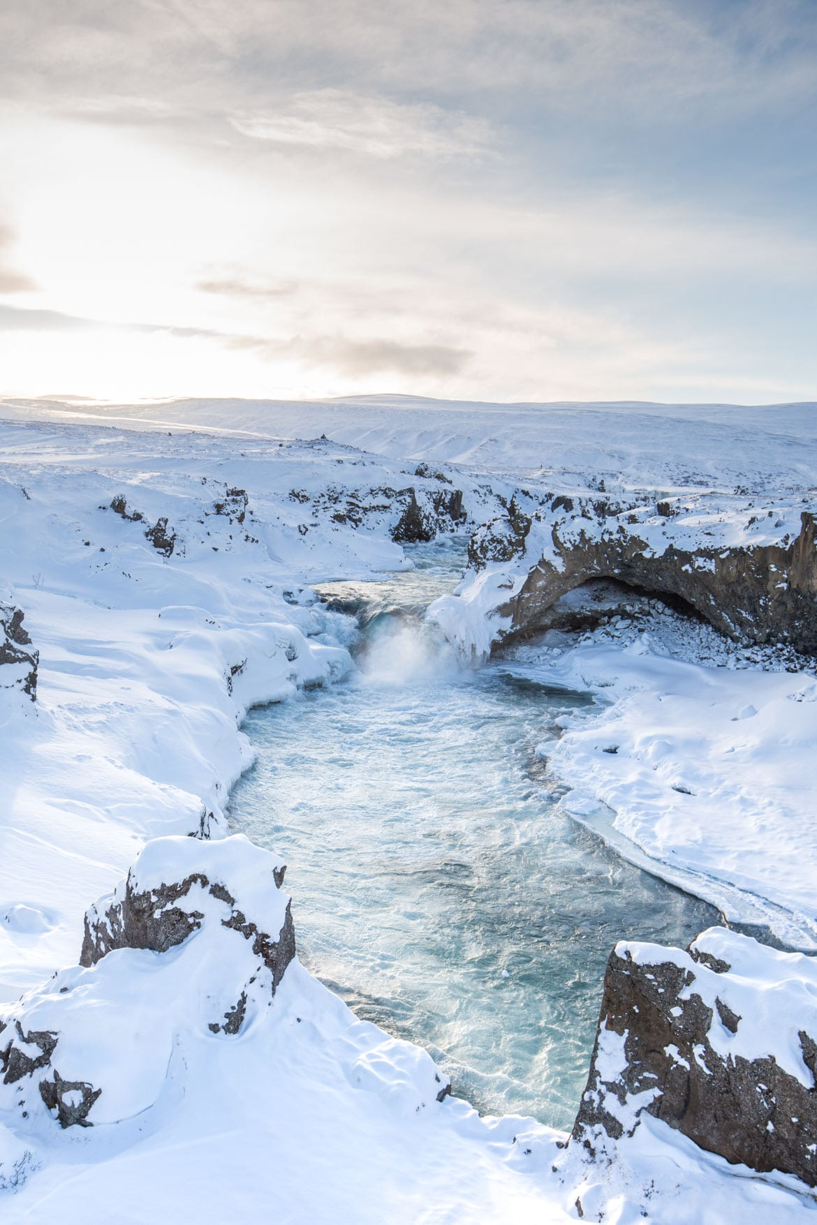 islande roadtrip hivernal Godafoss