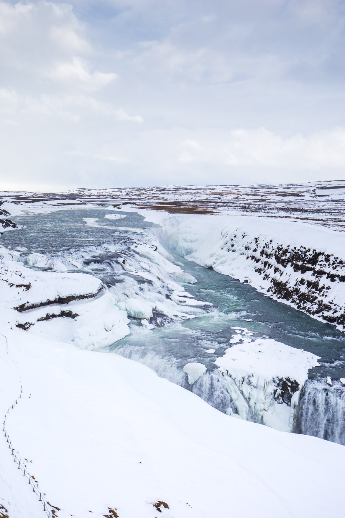 roadtrip hivernal sud islande gullfoss