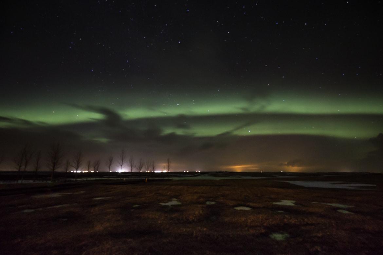 roadtrip hivernal sud islande aurore boréale
