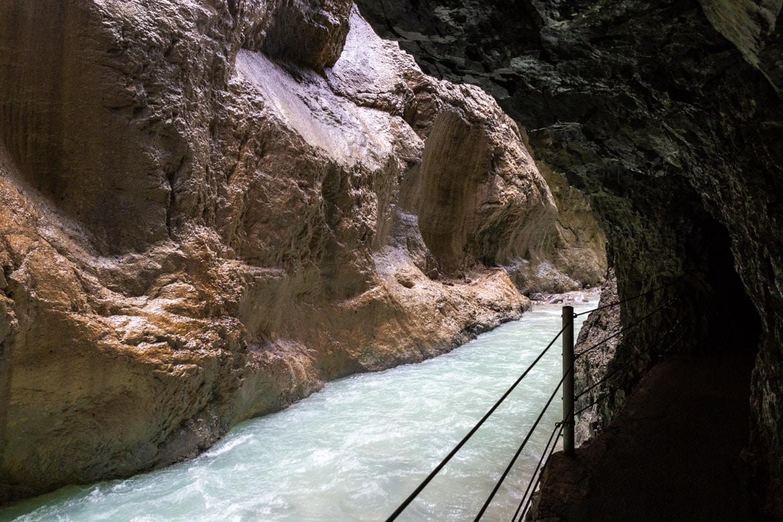 road trip alpes bavaroises autrichiennes gorges partnachklamm